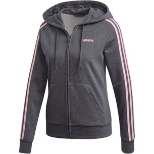 b2b8898d862e adidas Essential 3S Full Zip Sweatjacke Damen dark grey heather
