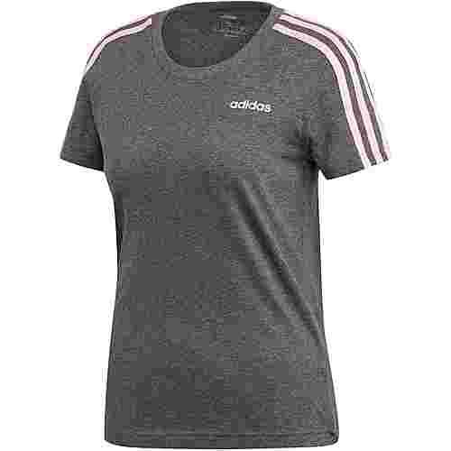adidas Essentials 3S T-Shirt Damen dark grey heather
