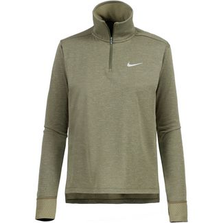 Nike Therma Spere Laufhoodie Damen olive canvas/reflective silver