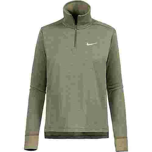 Nike Therma Spere Laufhoodie Damen olive canvas/reflective silver