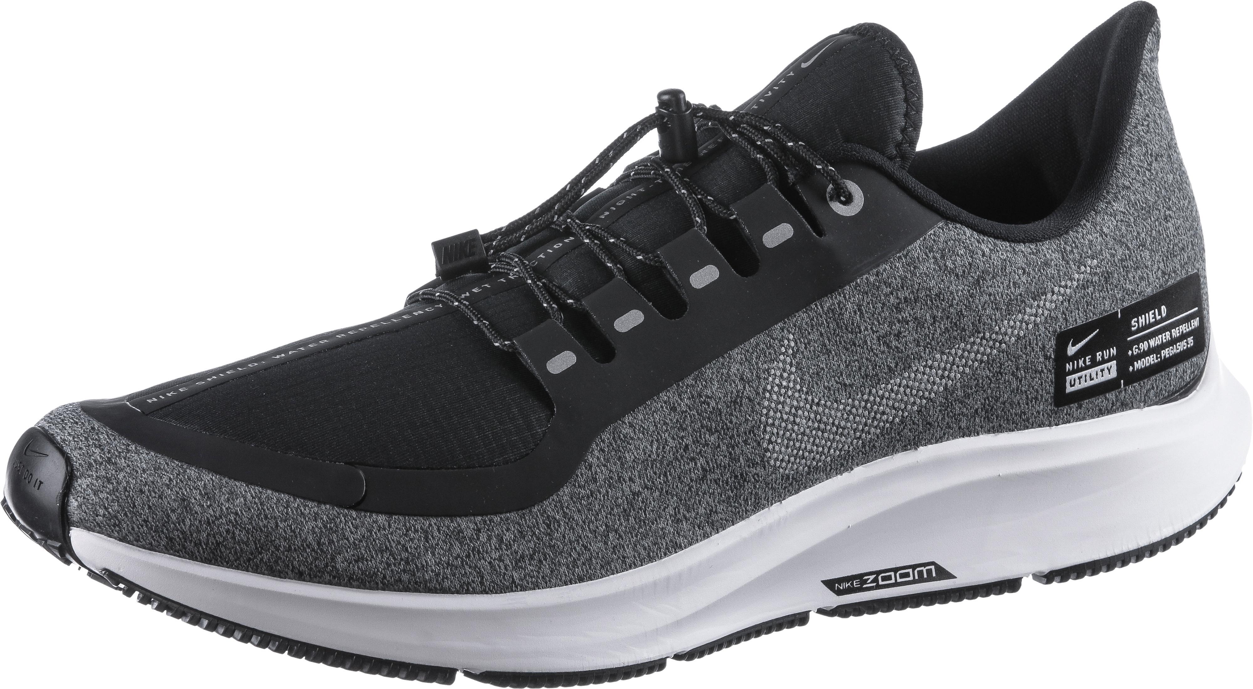 Nike AIR ZOOM PEGASUS 35 SHIELD Laufschuhe Herren black metallic silver cool grey vast grey im Online Shop von SportScheck kaufen