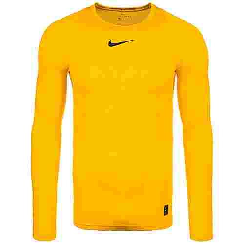Nike Pro Langarmshirt Herren gelb