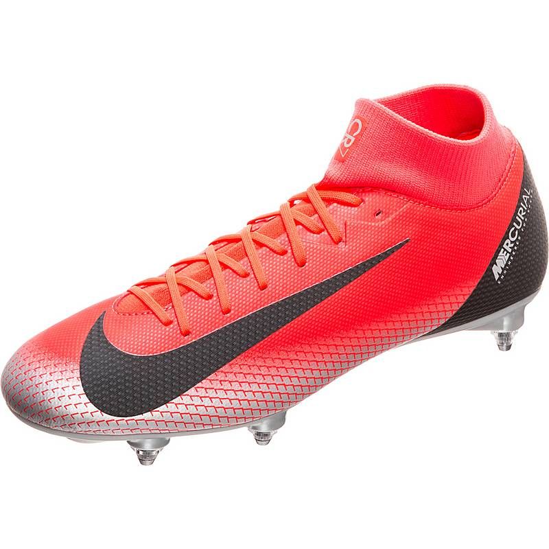 finest selection a09bb 70b05 Nike Mercurial Superfly VI Academy CR7 SG-Pro Fußballschuhe Herren neonrot   schwarz