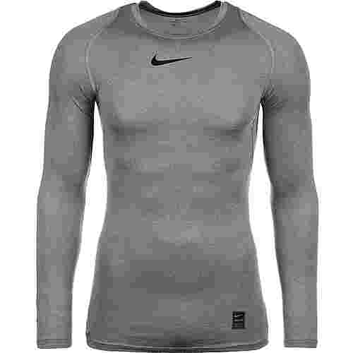 Nike Pro Langarmshirt Herren dunkelgrau