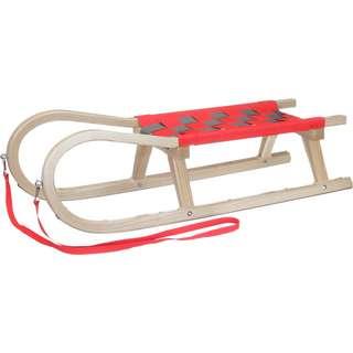 Kathrein Familienrodel Zweisitzer Schlitten rot/grau