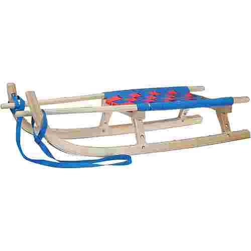 Kathrein Tourenrodel Zweisitzer m. Gurtsitz Schlitten blau/rot
