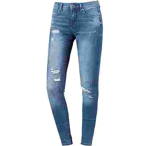 Only Carmen Skinny Fit Jeans Damen medium blue denim