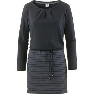 Mazine Langarmkleid Damen black-black melange-stripes