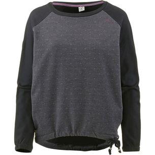 Mazine Sweatshirt Damen black-black melange-dots