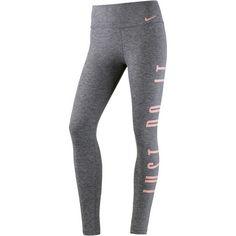 Nike Power Tights Damen black heather/storm pink