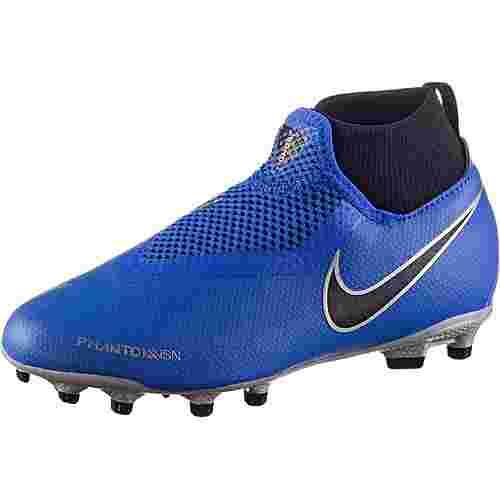 Nike JR PHNTOM VSN ACADEMY DF FG/MG Fußballschuhe Kinder racer blue-racer blue-black-mtlc silver-volt-mtlc silver