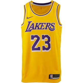 Nike Lebron James Los Angeles Lakers Basketballtrikot Herren amarillo-field purple-white