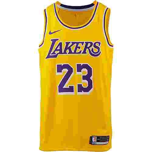 Nike James LeBron Los Angeles Lakers Trikot Herren amarillo-field purple-white