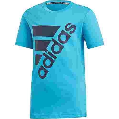 adidas T-Shirt Kinder shock cyan