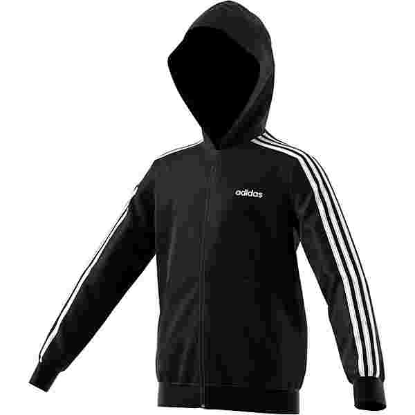 adidas ESSENTIALS 3 STRIPES Sweatjacke Kinder black