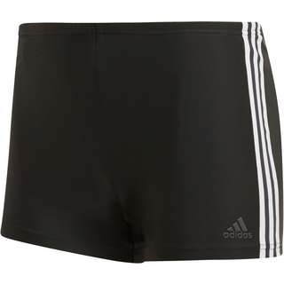 adidas Fit 3-Stripes Kastenbadehose Herren black