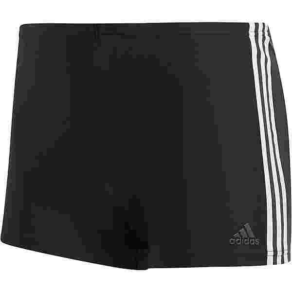 adidas Fit 3-Stripes Kastenbadehose Herren black