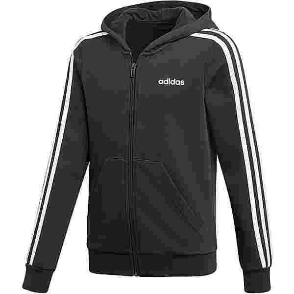 adidas 3 STRIPES Kapuzenjacke Kinder black