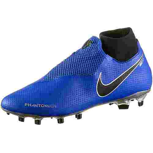 Nike PHANTOM VSN PRO DF FG Fußballschuhe racer blue-black-mtlc silver-volt