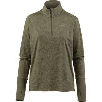 Nike Laufhoodie Damen medium olive/neutral olive/reflective silver