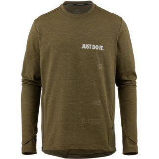 Nike Sphere Laufshirt Herren olive-flak-heather-black-reflective-silver