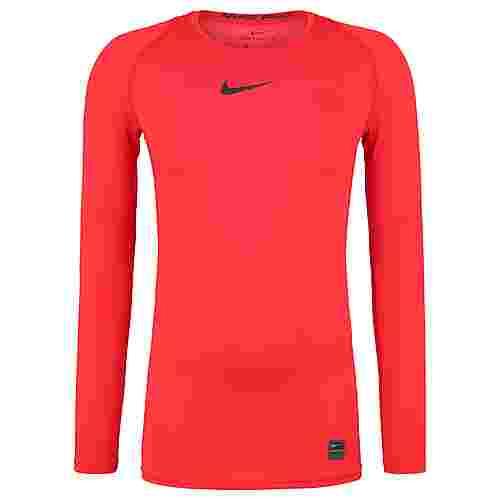 Nike Pro Langarmshirt Herren rot
