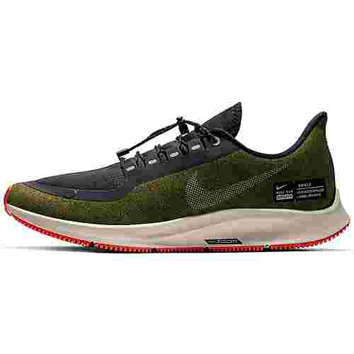 Nike AIR ZOOM PEGASUS 35 SHIELD Laufschuhe Herren olive-flak-metallic-silver-black-string