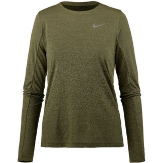 Nike Medalist Laufshirt Damen neutral olive/olive canvas/reflective silver