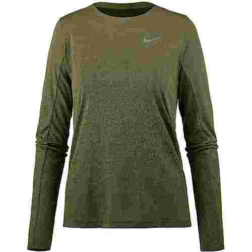Nike Medalist Laufshirt Damen neutral olive/olive canvas/reflective silver