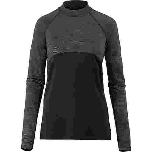 Nike Pro Funktionsshirt Damen black/metallic silver