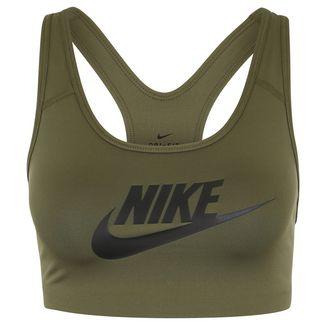 Nike Swoosh Futura Sport-BH Damen oliv