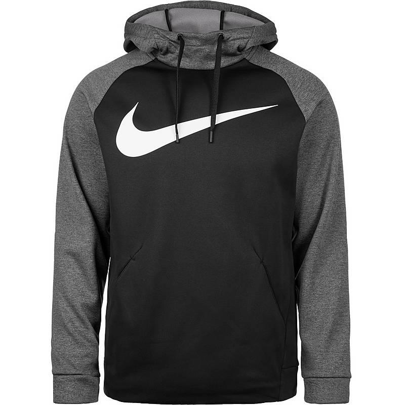 Nike Therma Swoosh Kapuzenpullover Herren Schwarz Grau Im Online