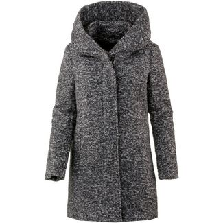Only Wollmantel Damen dark grey melange