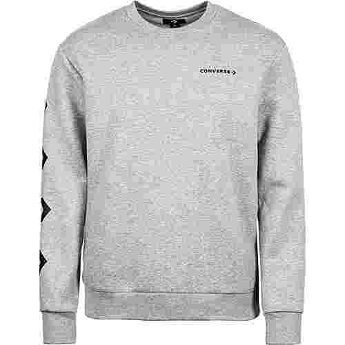 CONVERSE Star Chevron Graphic Crew Sweatshirt Herren grau / schwarz