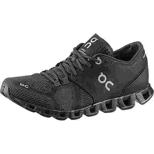ON Cloud X Laufschuhe Damen black-asphalt