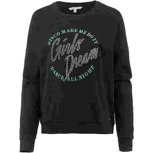 TOM TAILOR Sweatshirt Damen deep black