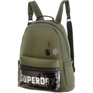 Superdry Rucksack Daypack Damen khaki sequin