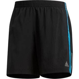 adidas OWN THE RUN Laufshorts Herren black-shock cyan