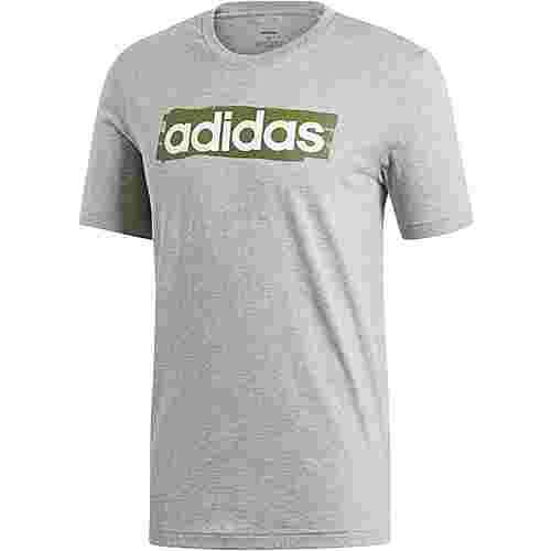 adidas E Lin T-Shirt Herren medium grey heather
