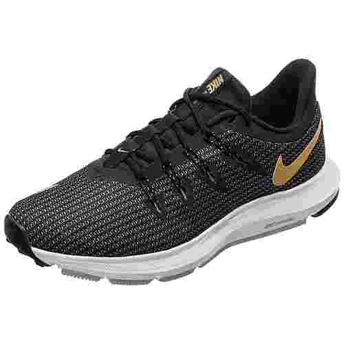 Nike Quest Laufschuhe Damen schwarz / gold
