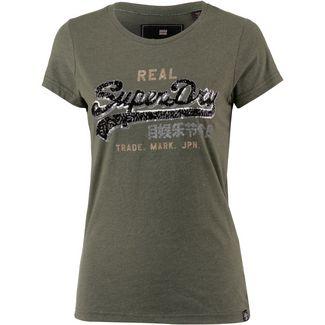 Superdry T-Shirt Damen washed khaki marl