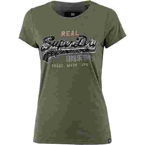 Superdry T-Shirt Damen washed khaki marl