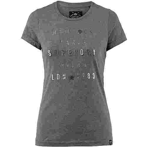 Superdry T-Shirt Damen charcoal grey