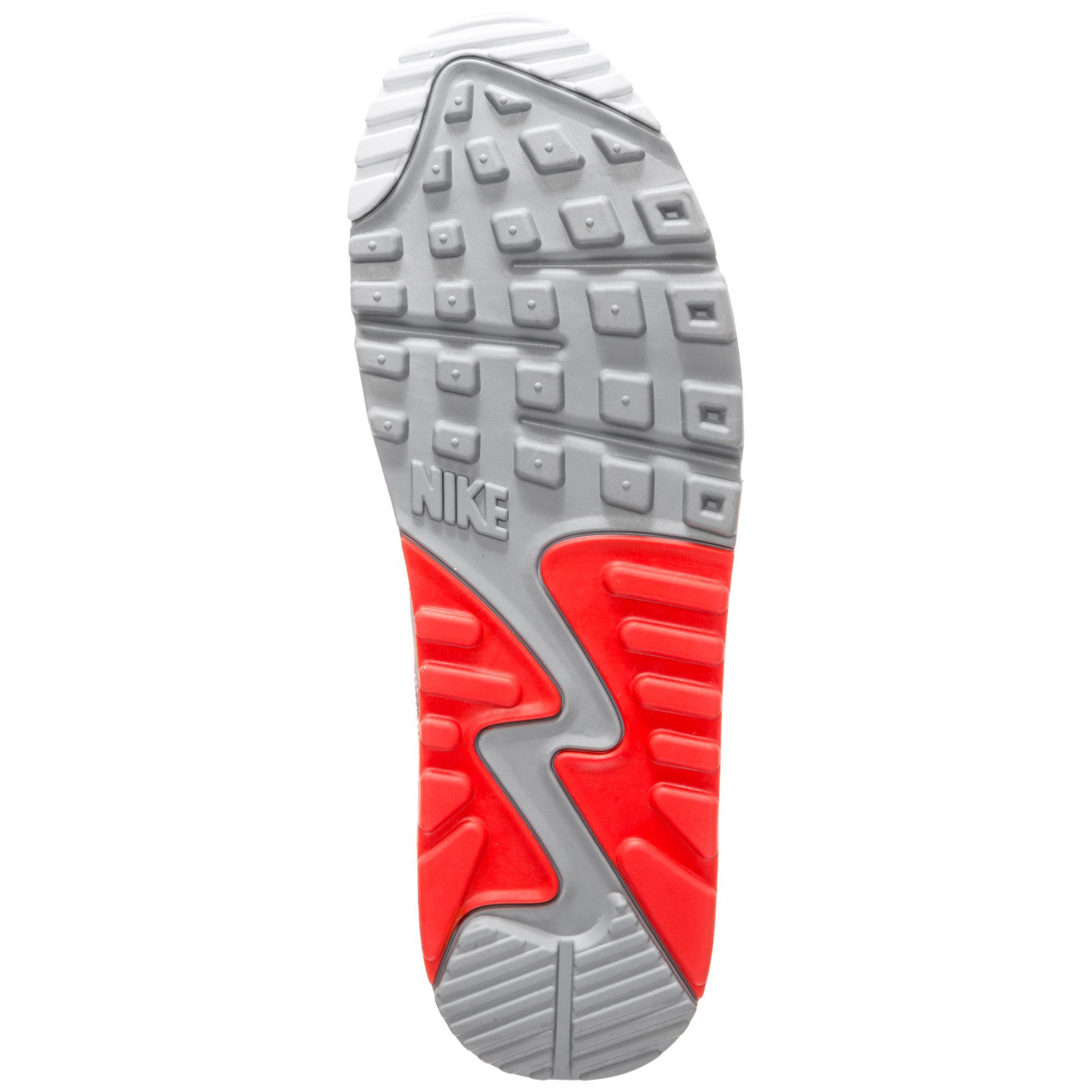 Nike Air Max 90 Essential Sneaker Herren grau neonrot im Online Shop von SportScheck kaufen