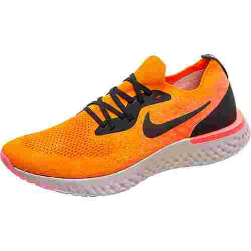 Nike Epic React Flyknit Laufschuhe Herren orange / schwarz