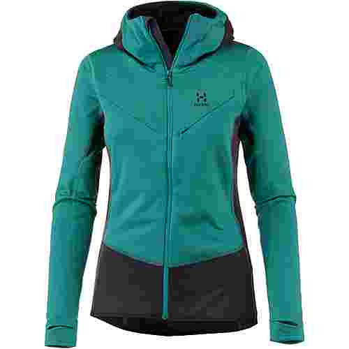 Haglöfs L.I.M Fleecejacke Damen Alpine green/acai berry