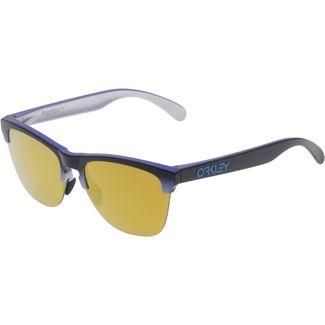 Oakley Frogskins Lite 24K Iridium Sportbrille blue black fade silver