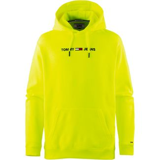 Tommy Jeans Hoodie Herren safety yellow