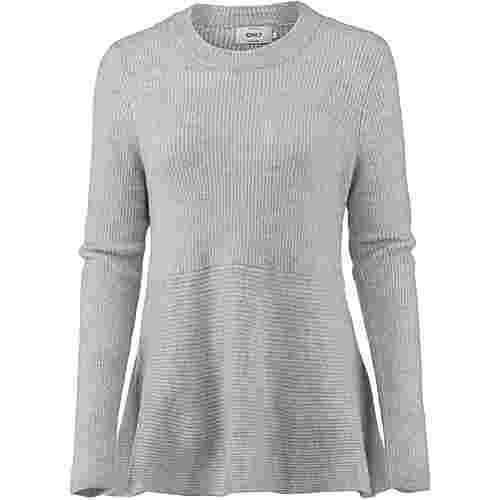 Only Strickpullover Damen light grey melange