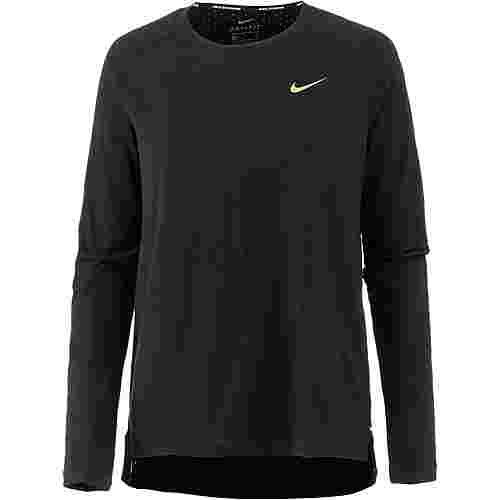 Nike Tailwind Laufshirt Damen black/metallic gold